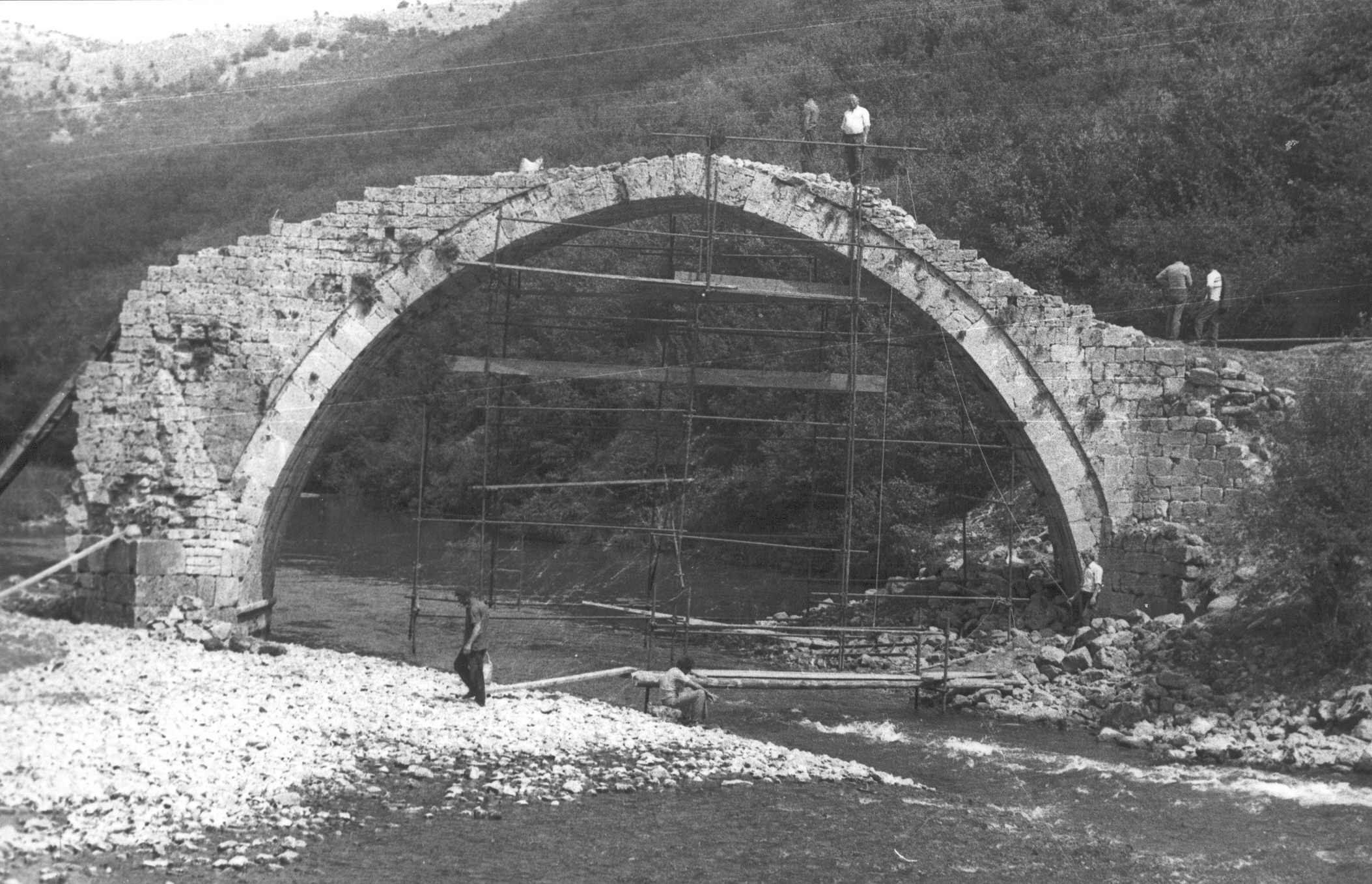 Stari most na reci Uvac - konzerviranje
