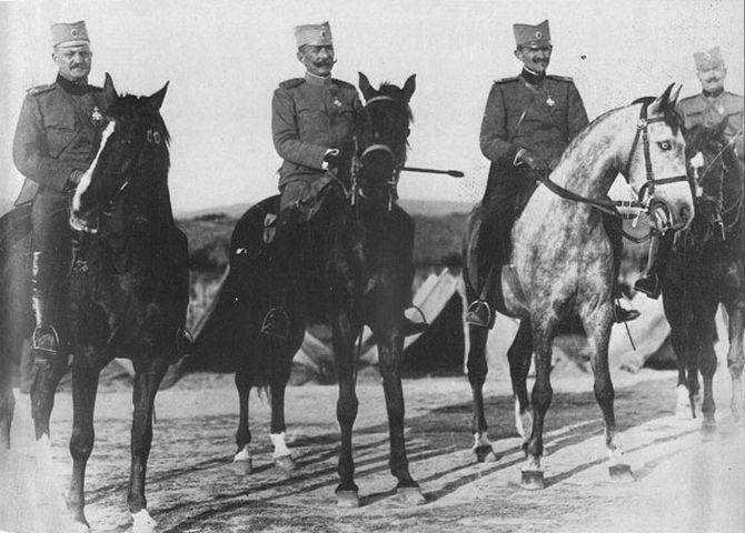 General Bojović sa oficirima Štaba Vrhovne komande 1916. godine, na Solunskom frontu
