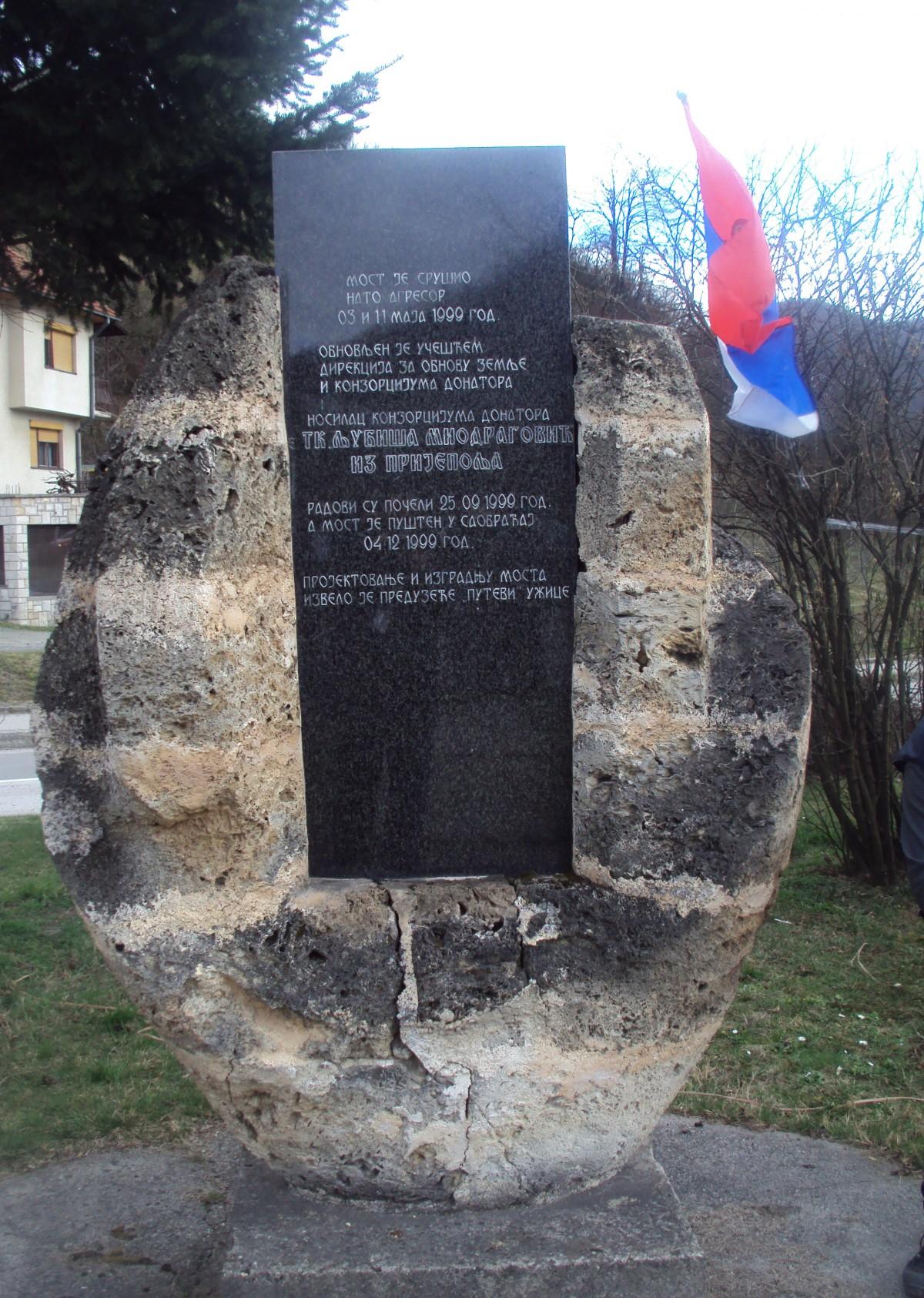 Споменик жртвама НАТО бомбардовања у Пријепољу
