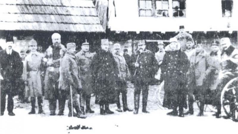 Аустро-угарски официри у Дугој Пољани код Сјенице 1916. године