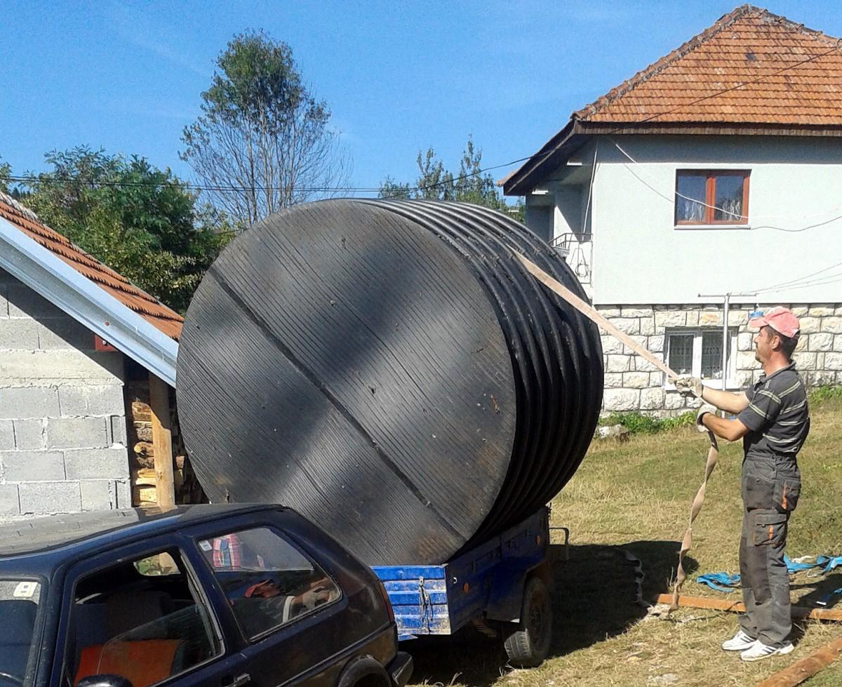 Припреме за радове - стижу нове резервоари