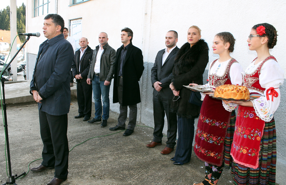 Свечано отварање - Димитрије Пауновић, Милинко Шапоњић и породица Василић