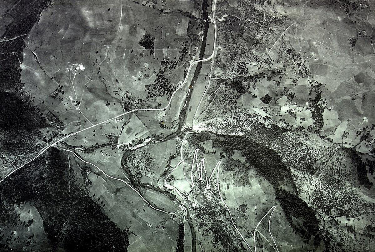 Поглед са неба - путеви у Кокином Броду и два моста на Увцу