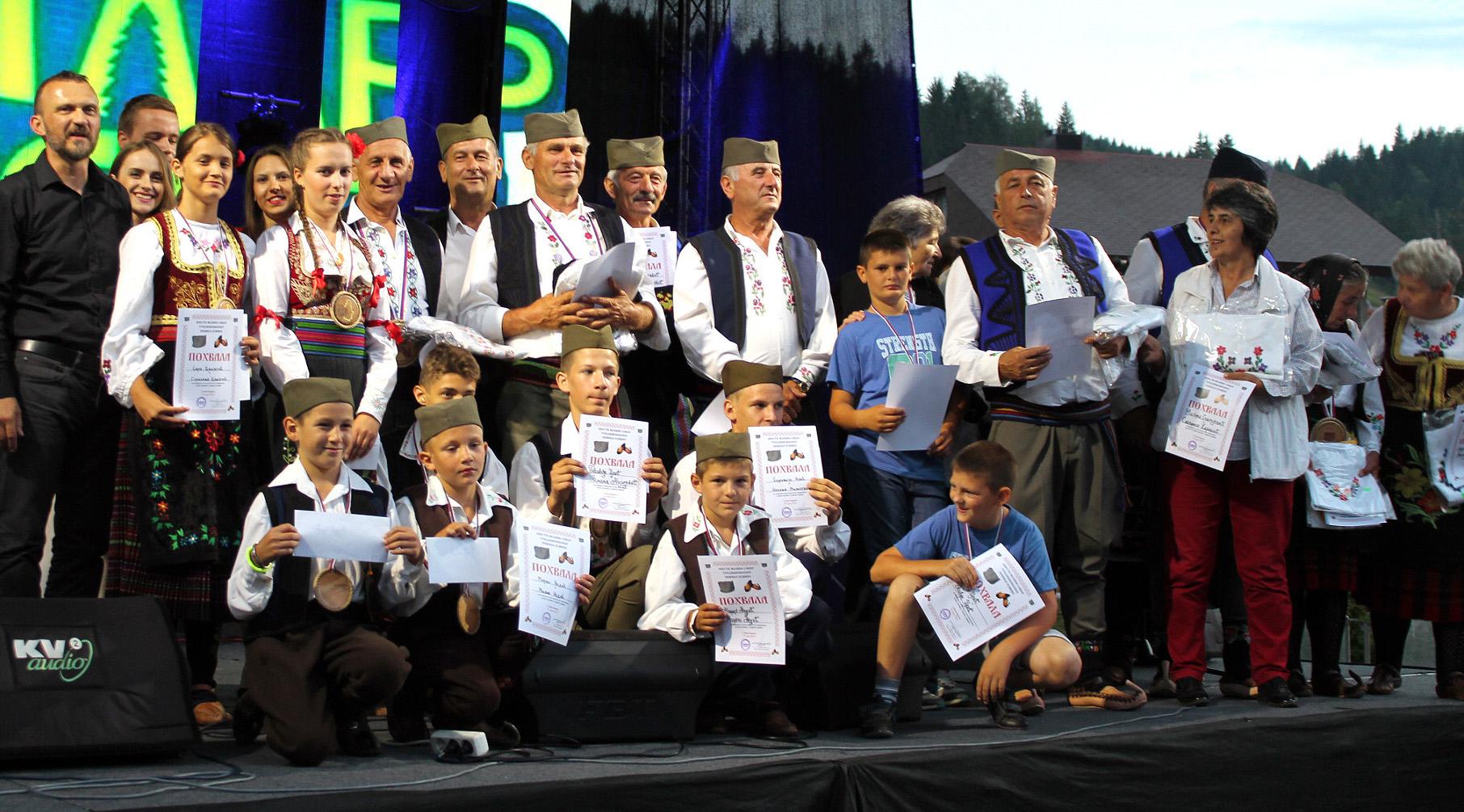 Аплаузи и награде - најуспешнији такмичари Шестог сабора Шести сабор певања извика - ЗлатарФест 2016