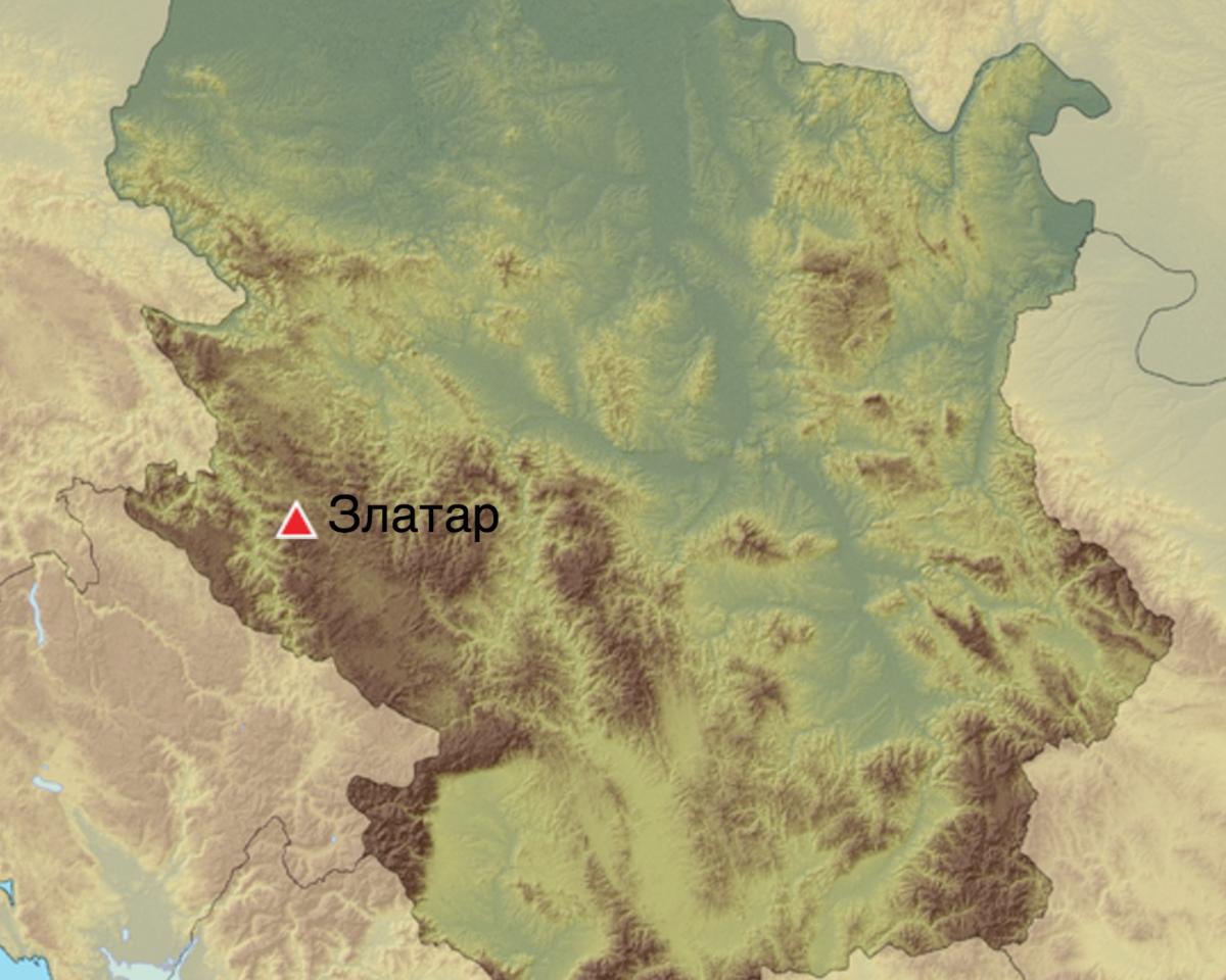 zlatar mapa Планина Златар zlatar mapa