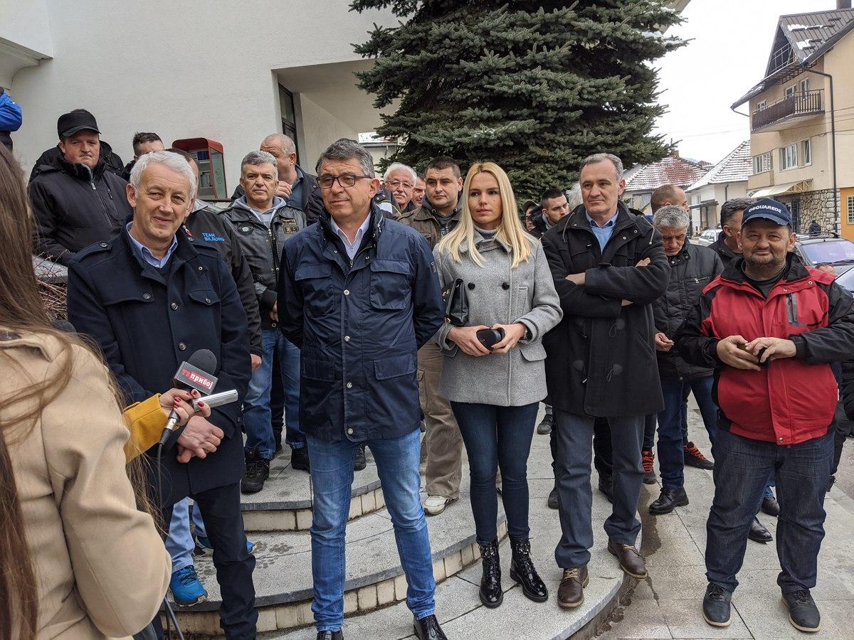 ГГ Опстанак - конференција за новинаре поводом локалних избора 2020. године Димитрије Пауновић