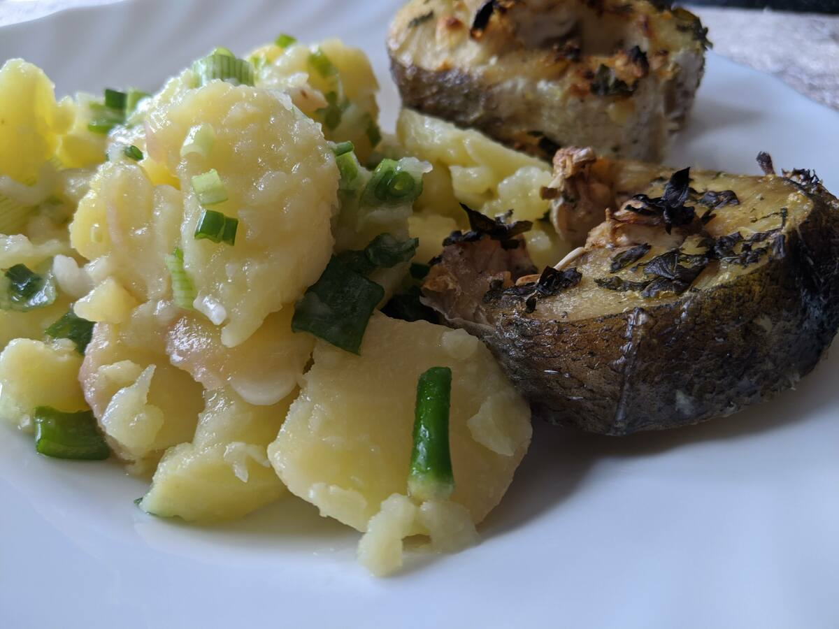 Посна храна Кромпир салата Риба
